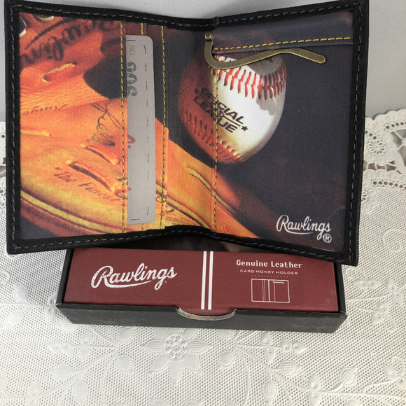 RawlingsBaseball Wallet with Mony Clip. NWT. Rawlings 6cdc4bb345d66